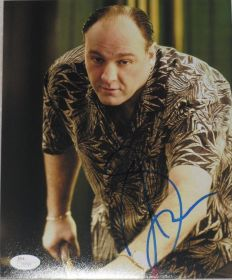 James Gandolfini Signed Sapranos 8x10 Shooting Pool Photo James Spence
