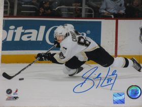 Sidney Crosby Signed Penguins NHL 8x10 Action Photo Frameworth Hologram