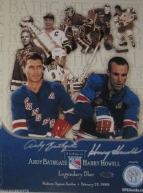 Andy Bathgate & Harry Howell Signed Rangers Tribute Timeline Pamphlet Steiner