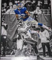 Rueben Randle Signed NY Giants Color Accents 16x20 Photo Steiner Sports