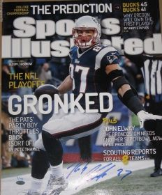 Rob Gronkowski Signed Patriots Sports Illustrated LE 1/49 16x20 Photo Steiner