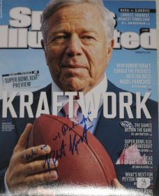 Robert Kraft Signed New England Patriots 8x10 Photo Quality Authentication