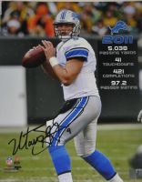 Matthew Stafford Signed Detroit Lions 2011 Stat 16x20 Photo GT Sports Marketing