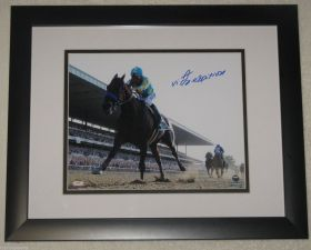 Victor Espinosa Signed 2015 American Pharoah Belmont Stakes Triple Crown Win 8x10 Photo Steiner